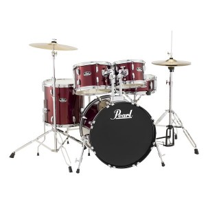 BATERIA PEARL ROADSHOW FUSION JET PACK WINE RED