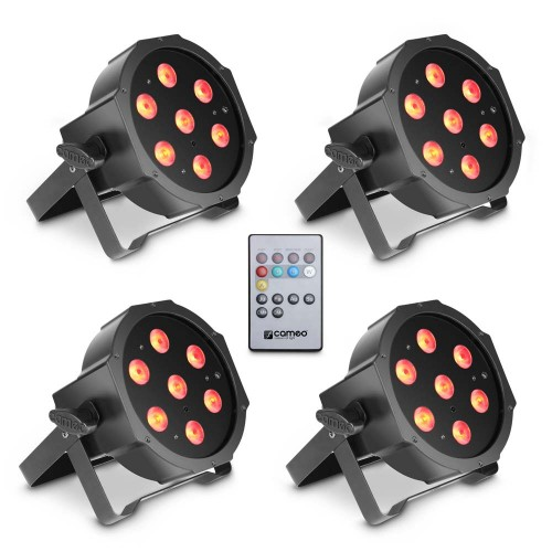 PACK CAMEO 4 PAR lights 7 x 3 W