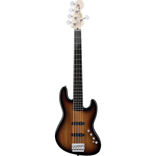 SQUIER DELUXE JAZZ BASS® V ACTIVE 3-COLOR SUNBURST